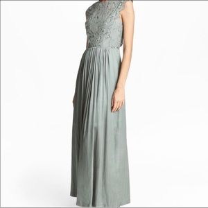 H&M sage green maxi size 2 (more like a 0)